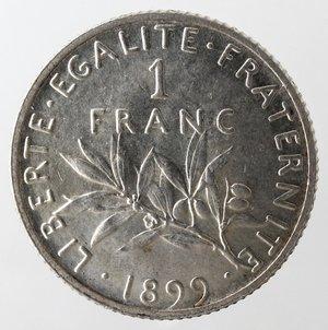 reverse: Francia. Franco 1899. Ag 835.