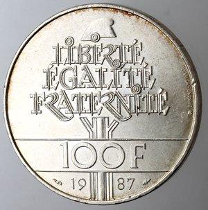 reverse: Francia. 100 franchi 1987. Ag 900.