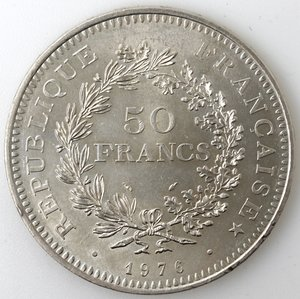 obverse: Francia. 50 Franchi 1976. Ag.
