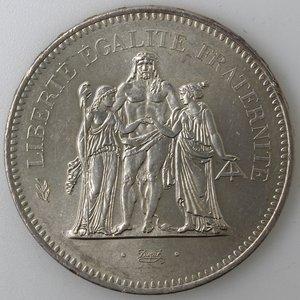 reverse: Francia. 50 Franchi 1976. Ag.