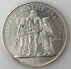 reverse: Francia. 10 Franchi 1967. Ag.