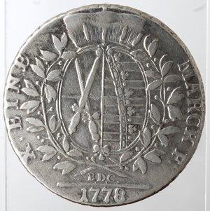 reverse: Germania. Sassonia. Federico Augusto III. Tallero 1778. Ag. Zecca di Dresden