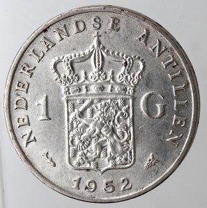 reverse: Antille Olandesi. Fiorino 1952.Ag 720.