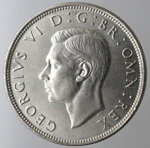 obverse: Gran Bretagna. Giorgio VI. 1\2 Corona 1945. Ag. 500.