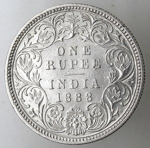 reverse: India britannica. Rupia 1888. Ag 833.