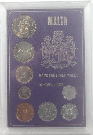 obverse: Malta. Divisionale 1972. Metalli vari. FDC.