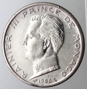 obverse: Monaco. Ranieri III. 5 Franchi 1966. Ag. 835.