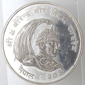 obverse: Nepal. Birendra Bir Bikram. 50 Rupie. 1974. Ag 500.