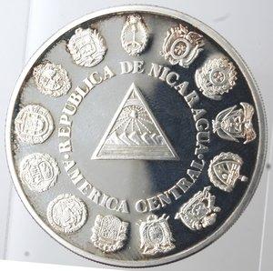 obverse: Nicaragua. 1 Cordoba 1991. Ag 925.