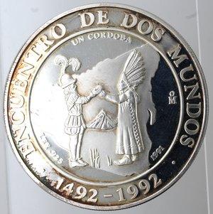 reverse: Nicaragua. 1 Cordoba 1991. Ag 925.