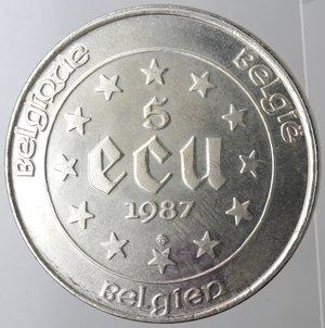 reverse: Belgio. 5 Ecu 1987.Ag 833.