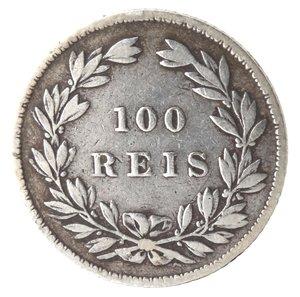 reverse: Portogallo. Pedro V. 1853-1861. 100 Reis 1857. Ag 907.