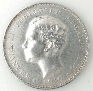 obverse: Portogallo. Manuel II. 1000 Reis 1910. Ag 917.