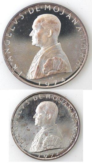 obverse: Monete Estere. Sovrano Ordine Militare di Malta. 2 Scudi e 1 Scudo 1974.