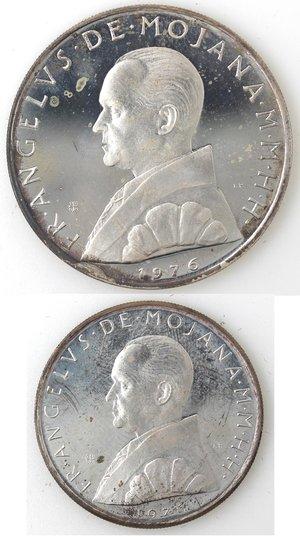 obverse: Monete Estere. Sovrano Ordine Militare di Malta. 2 Scudi e 1 Scudo 1976.