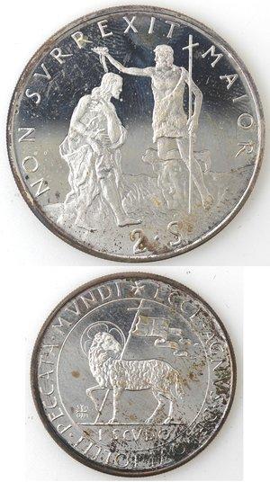 reverse: Monete Estere. Sovrano Ordine Militare di Malta. 2 Scudi e 1 Scudo 1976.
