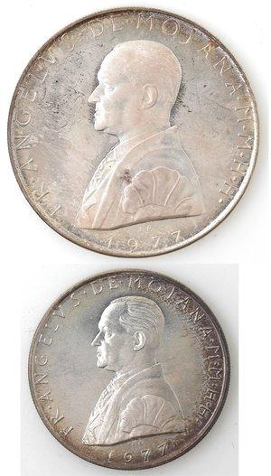 obverse: Monete Estere. Sovrano Ordine Militare di Malta. 2 Scudi e 1 Scudo 1977. Ag.