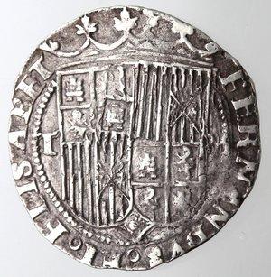 obverse: Spagna.Fernando ed Elisabetta. 1474-1504.Real.AG.