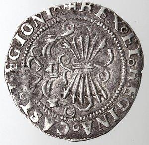 reverse: Spagna.Fernando ed Elisabetta. 1474-1504.Real.AG.