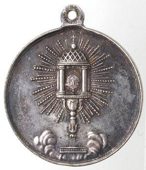 reverse: Medaglie. Medaglia Devozionale. XIX Sec. Ag.