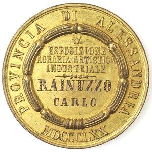 obverse: Medaglie. Alessandria. Provincia di Alessandria 1870. AE dorato.