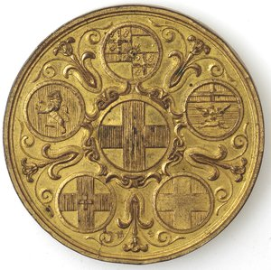 reverse: Medaglie. Alessandria. Provincia di Alessandria 1870. AE dorato.