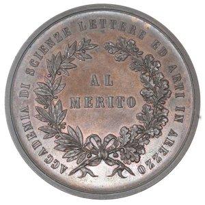 reverse: Medaglie. Arezzo. Accademia di Scienze Lettere ed Arti in Arezzo. Medaglia Al Merito. Ae.