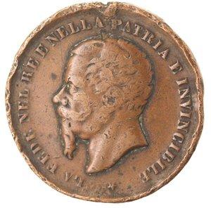 obverse: Medaglie. Vittorio Emanuele II. 1859-1878. Avellino. Ae.
