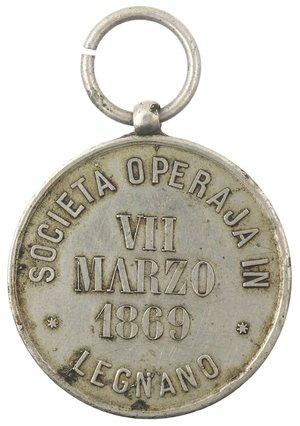 reverse: Medaglie. Legnano (MI). Medaglia 1869. Ag?.