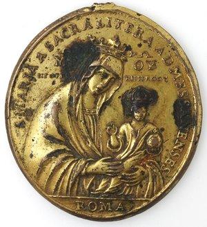 obverse: Medaglie. Messina. Medaglia Devozionale S. Maria della Lettera. Br dorato
