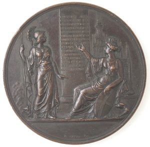 obverse: Medaglie. Milano. Medaglia 1844 per la VI riunione degli scenziati italiani. Ae.