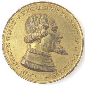 obverse: Medaglie. Milano. Medaglia 1886 per il 500 anniversario della costruzione del duomo di Milano da parte di Galeazzo Visconti.