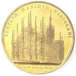 reverse: Medaglie. Milano. Medaglia 1886 per il 500 anniversario della costruzione del duomo di Milano da parte di Galeazzo Visconti.