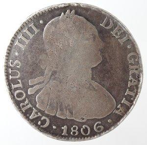 obverse: Bolivia. Potosì. Carlo IV. 1788-1808. 4 reales 1806. AG.