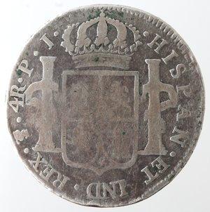 reverse: Bolivia. Potosì. Carlo IV. 1788-1808. 4 reales 1806. AG.