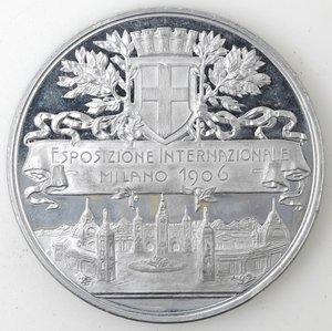 obverse: Medaglie. Milano. Medaglia 1906. Medaglia per l esposizione Internazionale e l inaugurazione della Galleria del Sempione. Al.