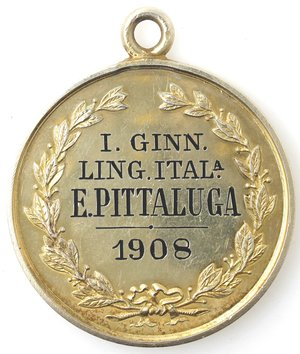 reverse: Medaglie. Moncalieri (TO). Medaglia Premio 1908. Ag? Dorato.