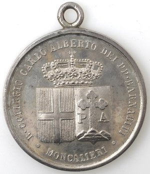 obverse: Medaglie. Moncalieri (TO). Medaglia Premio 1908. Ag.
