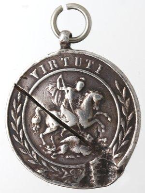 reverse: Medaglie. Napoli. Medaglia del Reale Ordine Militare Cavalleresco di San Giorgio della Riunione. Ag.