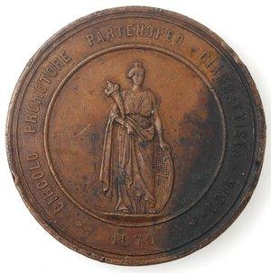 obverse: Medaglie. Napoli. Medaglia 1870. Ae. Circolo Promotore Partenopeo Giambattista Vico.