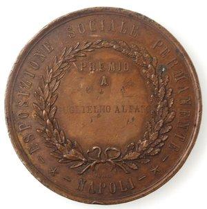 reverse: Medaglie. Napoli. Medaglia 1870. Ae. Circolo Promotore Partenopeo Giambattista Vico.