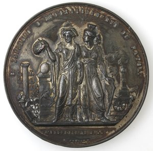 obverse: Medaglie. Napoli. Medaglia 1887. R. Istituto d Incoraggiamento di Napoli. Ae Argentato.