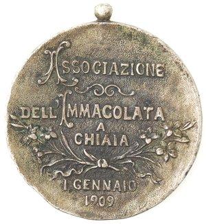 reverse: Medaglie. Napoli. Medaglia 1909. Associazione dell Immacolata a Chiaia