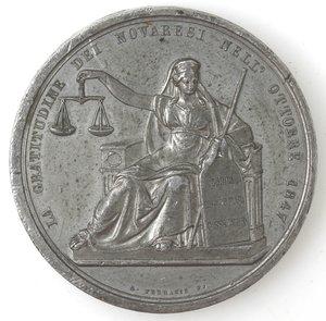 reverse: Medaglie. Novara. Carlo Alberto. Medaglia 1847. Per le riforme legislative.