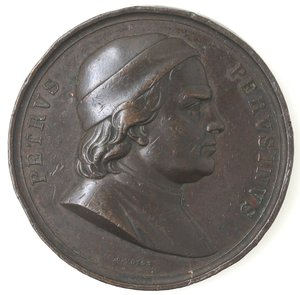 obverse: Medaglie. Perugia. Accademia Il Perugino - Vannucci Pietro. Medaglia Premio 1850.