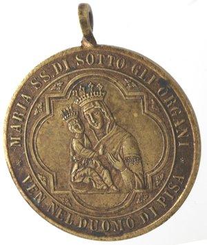 obverse: Medaglie. Pisa. Medaglia 1897. A Maria SS. Di Sotto gli Organi. Ae.