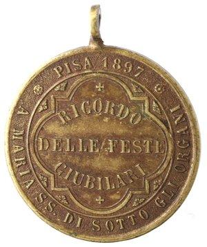 reverse: Medaglie. Pisa. Medaglia 1897. A Maria SS. Di Sotto gli Organi. Ae.