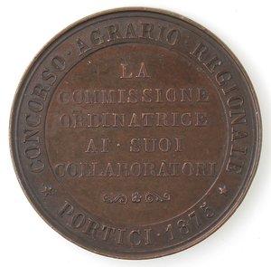 reverse: Medaglie. Portici (NA). Medaglia 1875. Ae. Per Il Concorso Agrario Regionale - Portici 1875