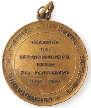 obverse: Medaglie. Portici (NA). Medaglia 1912. R. Scuola Superiore d Agricoltura in Portici
