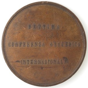 reverse: Medaglie. Roma. Medaglia celebrativa per la VII Conferenza Geodesica Internazionale 1883. AE.